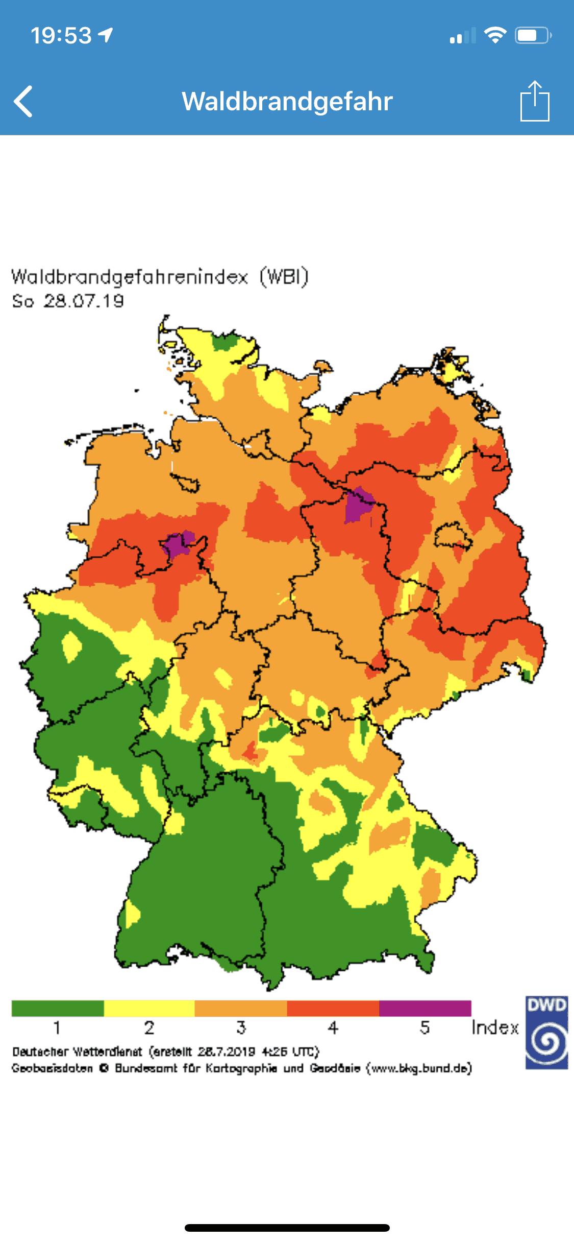 App_Umweltinfo_Waldbrandgefahr_Karte