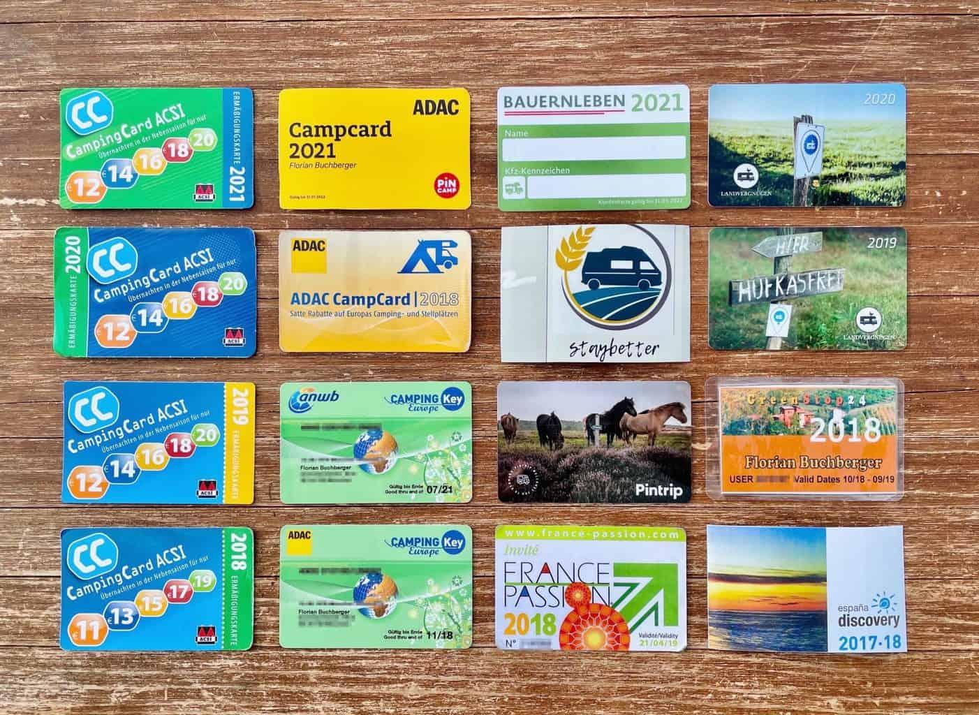 Campingkarten-ACSI-ADAC-CKE-CLUBID-FRANCE-PASSION-GREENSTOP24-LANDVERGNÜGEN-STAYBETTER-FARM-ESPANA-DISCOVERY-BAUERNLEBEN-PINTRIP-GREENSTOP24