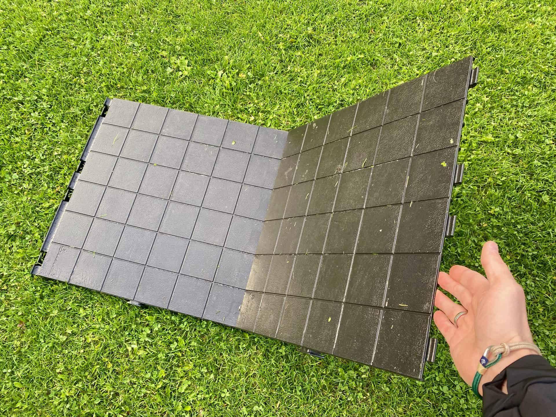 Isabella-Wohnmobil-und-Vorzelt-gesteckt-Bodenfliese-Bodenplatte-statt-Matchteppich