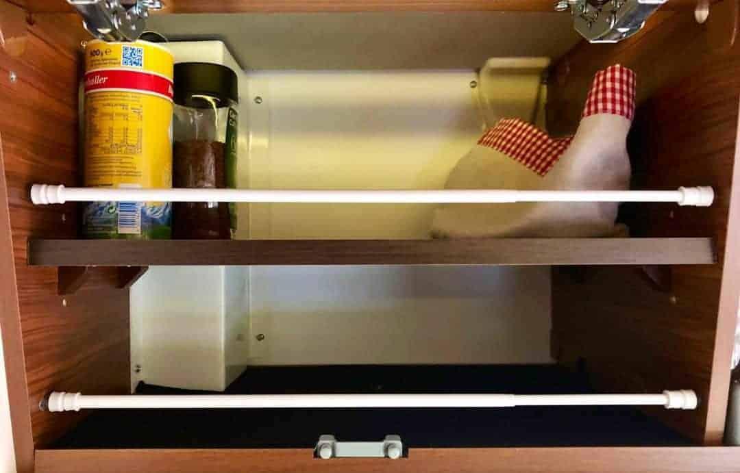 Red Bull Kühlschrank Edelstahl : Klemmstangen im bad kühlschrank und hängeschränken camper help