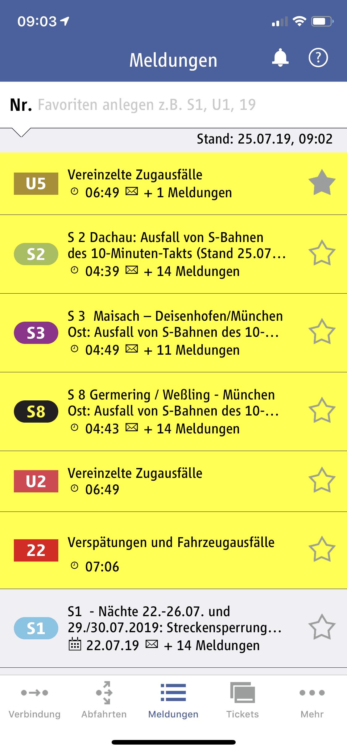 München_MVG_Fahrinfo_Meldungen