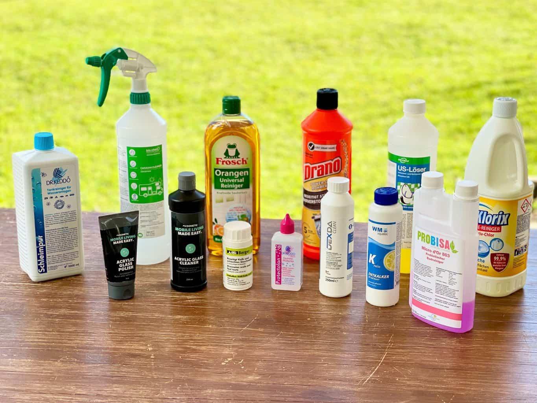 Reinigungsmittel-Frühjahrsputz-DrKeddo-Protectolan-Biochem-Dometic-Acrylglas-Frosch-Orangenreiniger-Drano-Abflussfrei-WM-Aquatec-Probisa-Danklorix