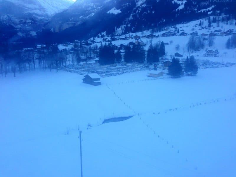 Schweiz Eigernordwand Campingplatz