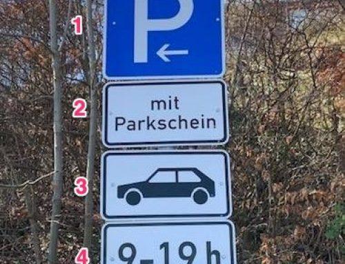 Besondere Verkehrszeichen für Gespann oder Wohnmobil
