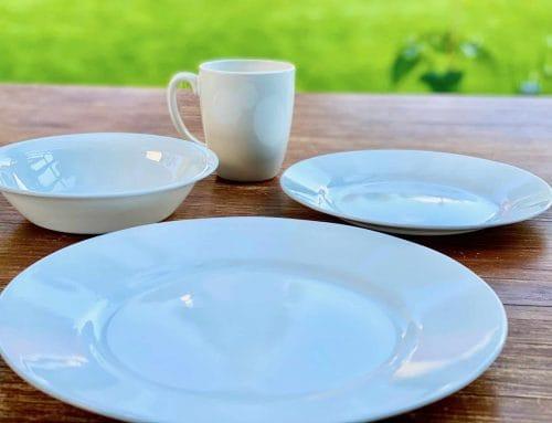 Geschirr – Bambus, Melamin, Vitrelle-Glas, Porzellan, Plastik